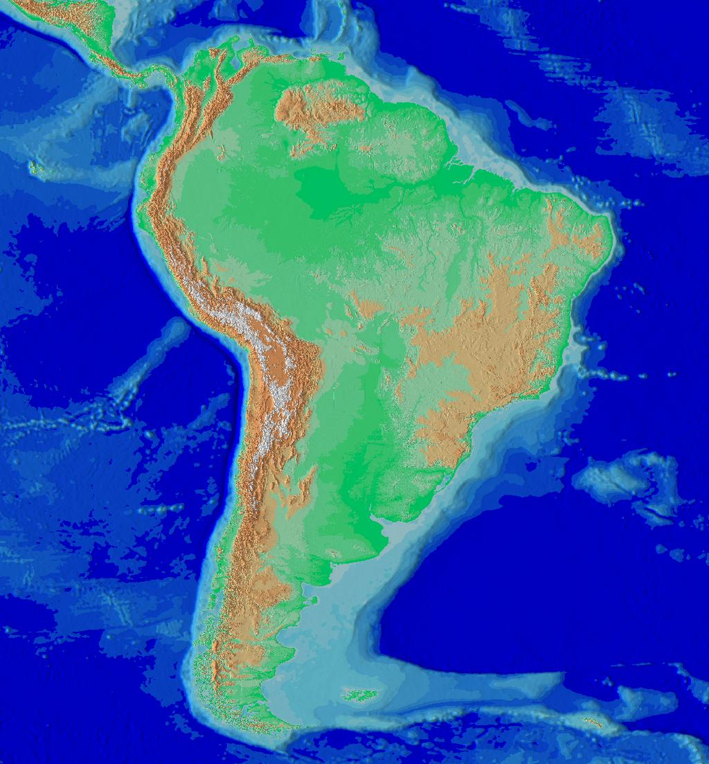 Longest mountain range Andes of South America