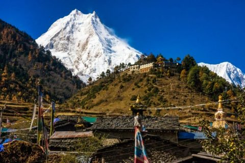 Mount Manaslu eighth tallest peak