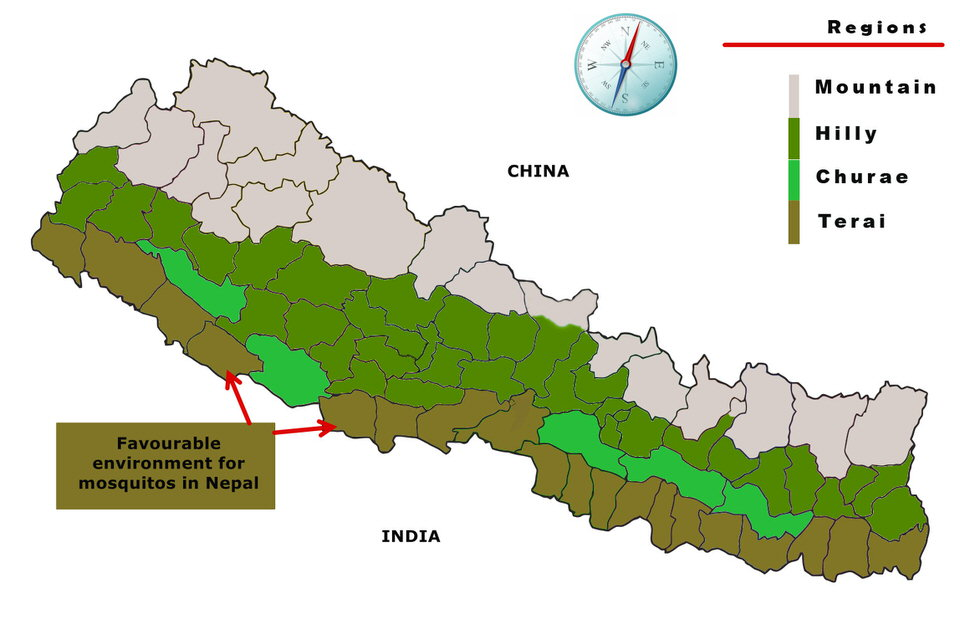 Potential Area of Mosquito in Nepal