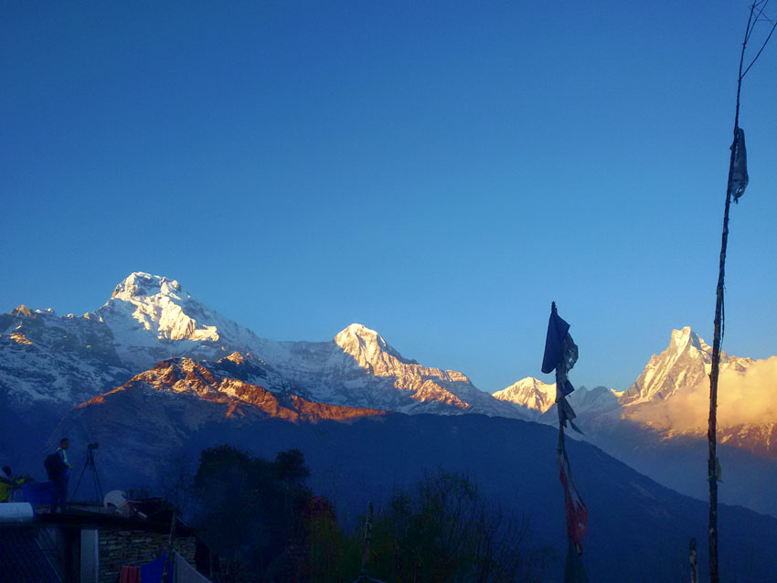 View from Tadapani of Ghorepani