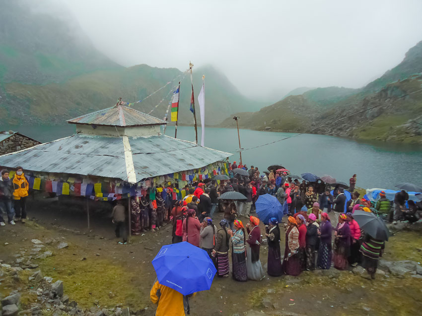 Gosainkunda lake during Faestival Time