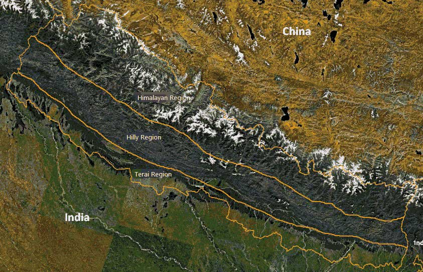 Topography of Nepal