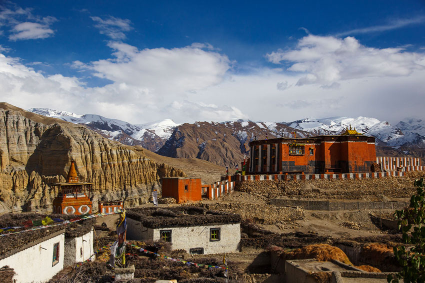 Tsarang village of Upper Mustang Trek